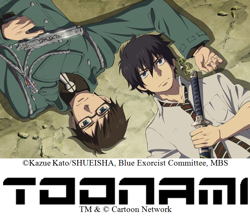 Blue Exorcist TV Series to Debut on TOONAMI™ Starting March 2014