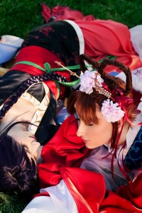 Miaka and Nuriko from Fushigi Yuugi